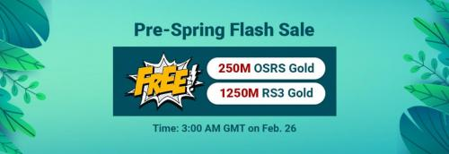 Pre-Spring Flash Sale: Free RuneScape 3 Gold to Get on RSorder Feb. 26