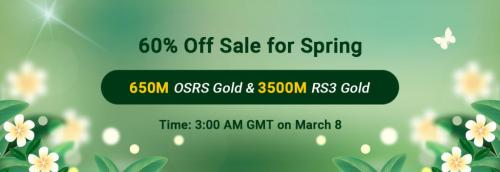 Ready to Get OSRS Gold for Sale with 60% Discount on RSorder for Spring 2021